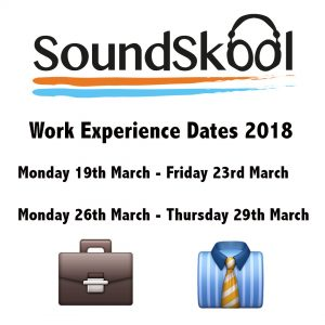 Work Experience Dates 2018